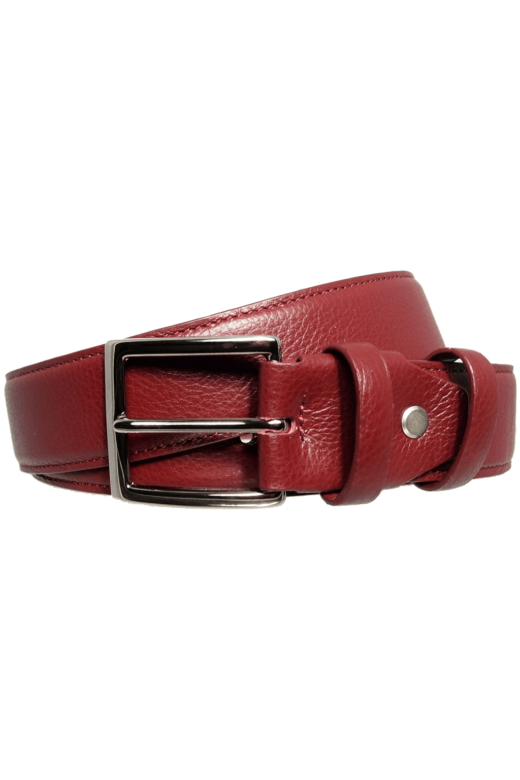 34 mm Duo Ply Leather Belt Bordeaux - Himelhoch's