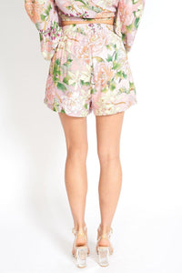 Flowers On My Mind Floral Cloth Shorts - Himelhoch's