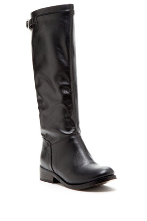 Round Toe Boot With Buckle Detail - Himelhoch's