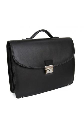 L'Homme - Leather genuine briefcase in Black or Brown - Himelhoch's