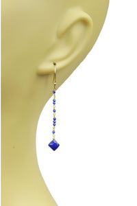 Lapis Lazuli Linear Vermeil Earrings - Himelhoch's
