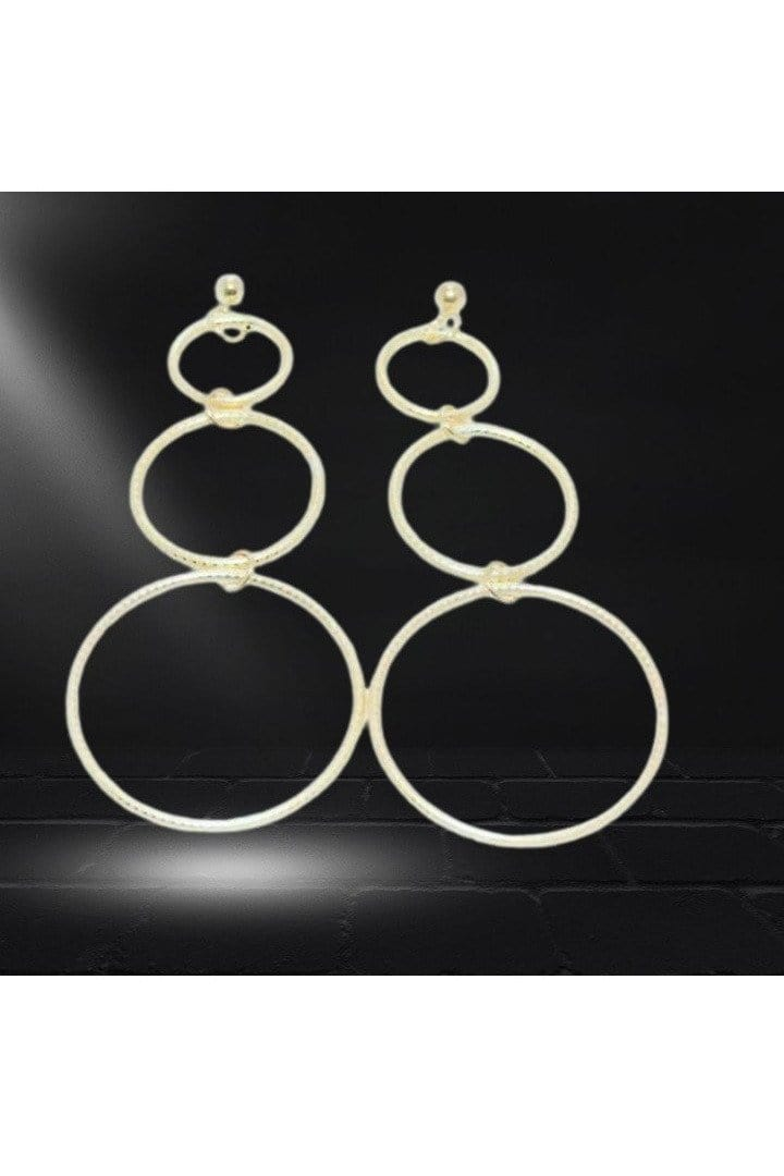 Gold Filled Triple Circle Earrings - Himelhoch's