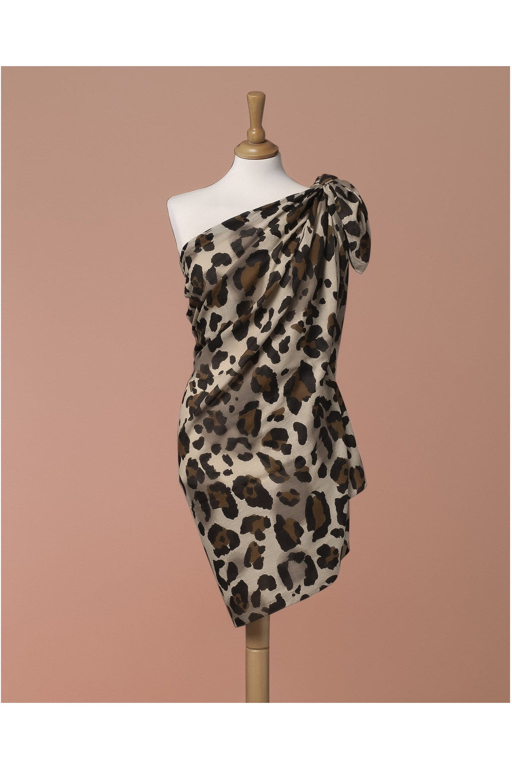 Sarong Pareo Leopard print Beige and brown color - Himelhoch's