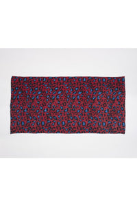 Sarong Pareo Leopard print red and blue color - Himelhoch's