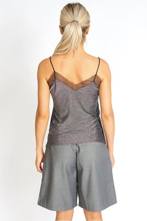 Sheer It Baby Metallic Mesh Cami - Himelhoch's