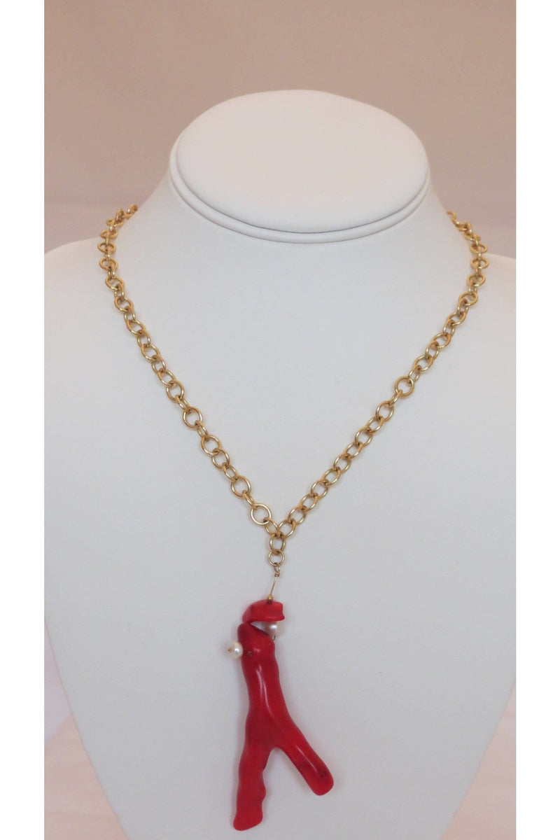 Living Coral & Freshwater Pearl Necklace - Himelhoch's