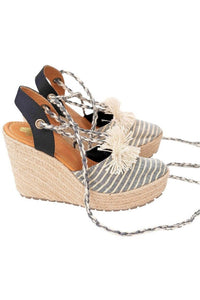 Wedge Espadrilles in Gray - Himelhoch's