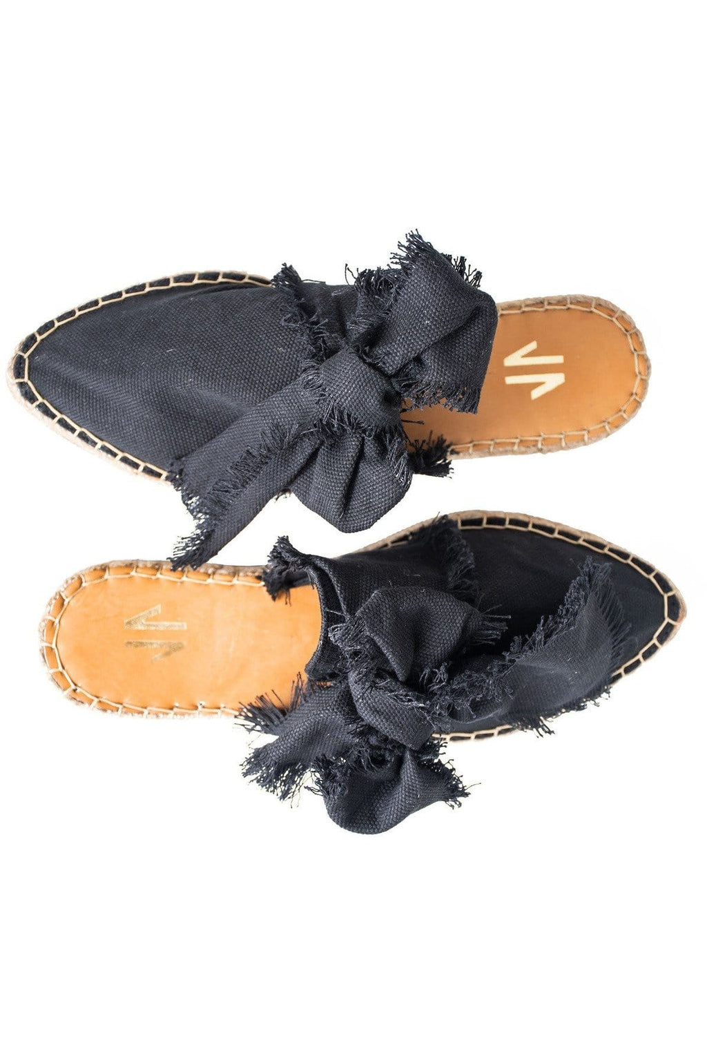 Columbian Leather and Textile Mules in Black - Himelhoch's