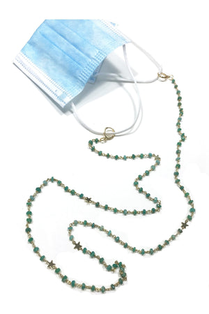 Amazonite Star Convertible Mask Necklace - Himelhoch's