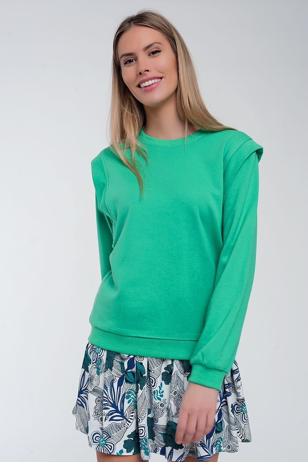 Boyfriend Sweatshirt with Shoulder Details - Himelhoch's