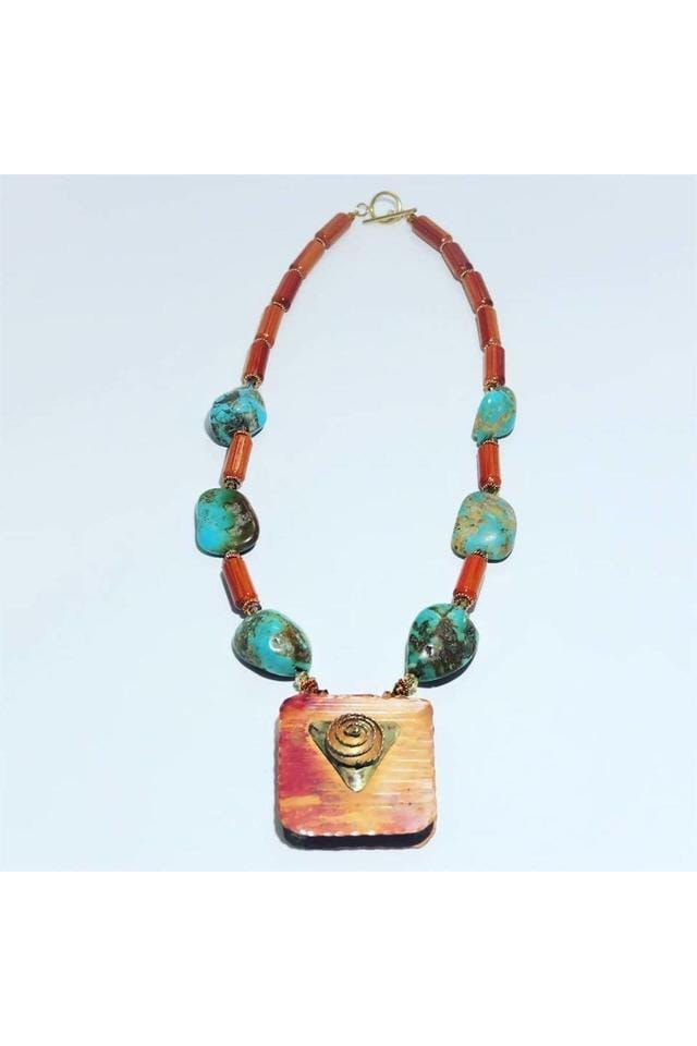 Copper and Turquoise Necklace