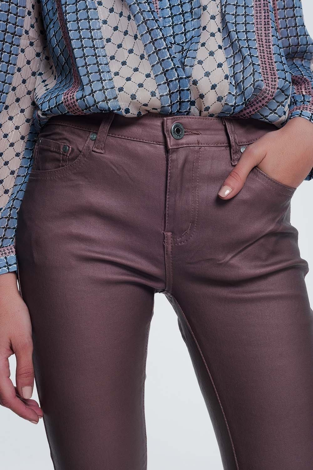Coated Pants in Pink - Himelhoch's