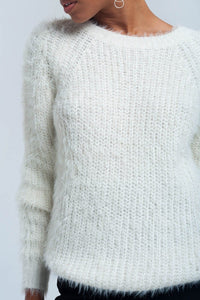 Cream knit sweater - Himelhoch's