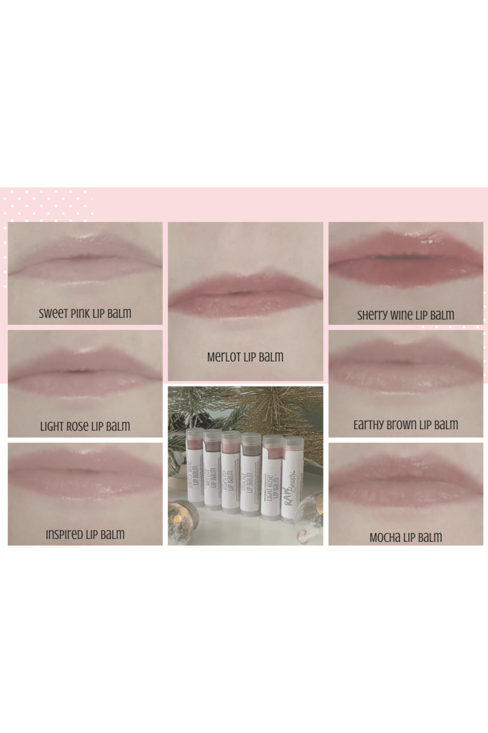 Tinted Lip Balm | Natural Tint Lip Chap | Raw Beauty Minerals - Himelhoch's