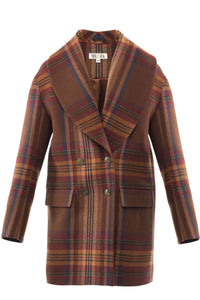 Double-Breasted Checked Wool Blazer - Himelhoch's