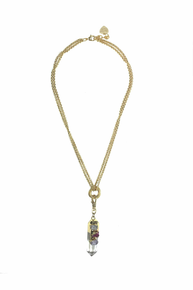 Crystal Charm Pendant Necklace - Himelhoch's