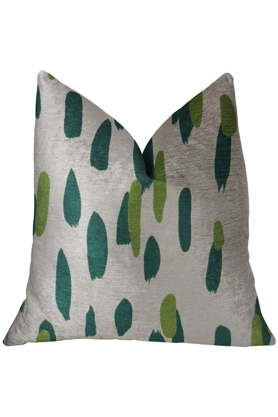 Bosky Willow Green and Beige Luxury Throw Pillow - Himelhoch's