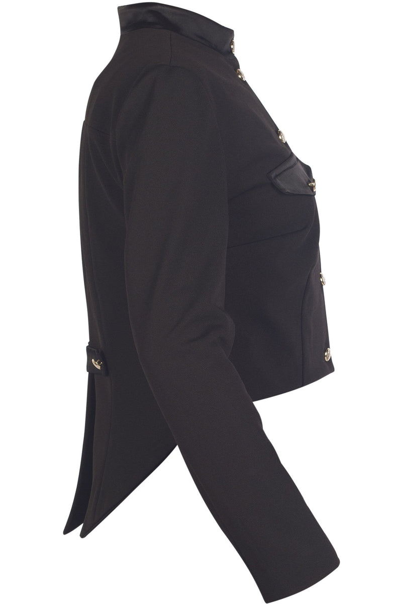 Black wool militray style tailcoat jacket - Himelhoch's