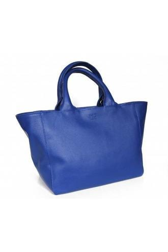 Rencontre Leather Handbag in Blue - Himelhoch's