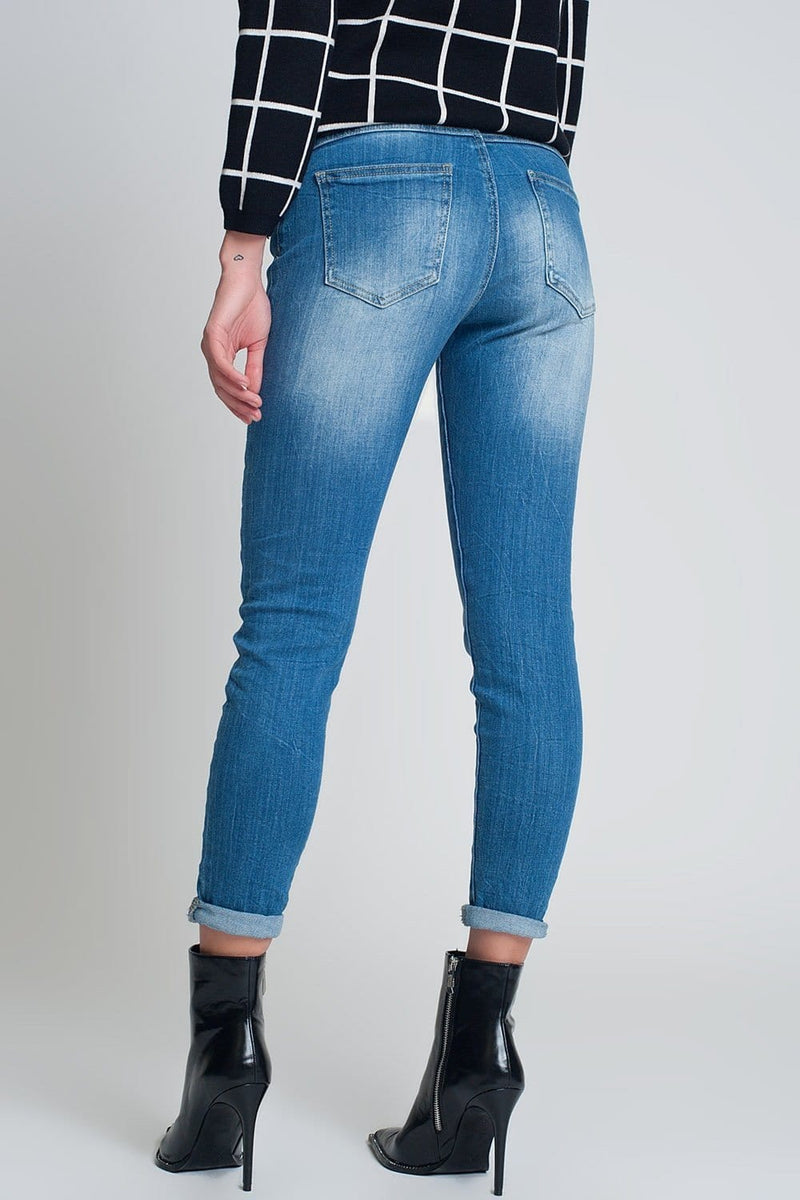 High Rise Farleigh Slim Mom Jeans in Lightwash - Himelhoch's