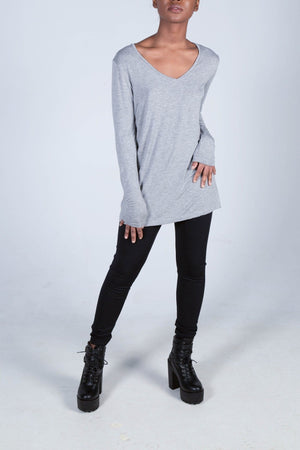 The Grace Long Sleeve Relaxed V-Neck