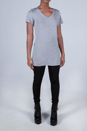 The Heather Short Sleeve Relaxed V-Neck - Himelhoch's