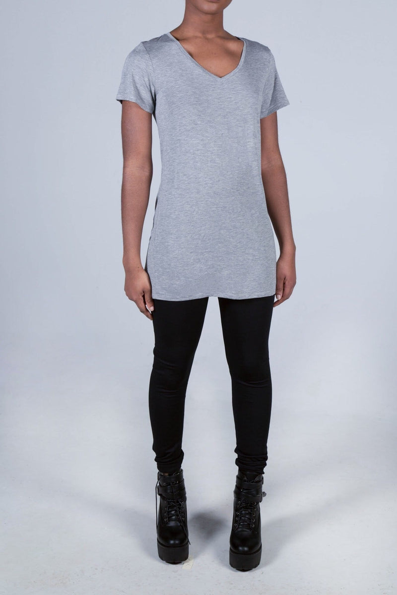The Heather Short Sleeve Relaxed V-Neck