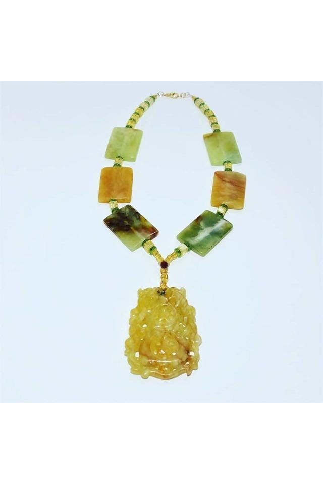 Jade and Citrine Necklace - Himelhoch's