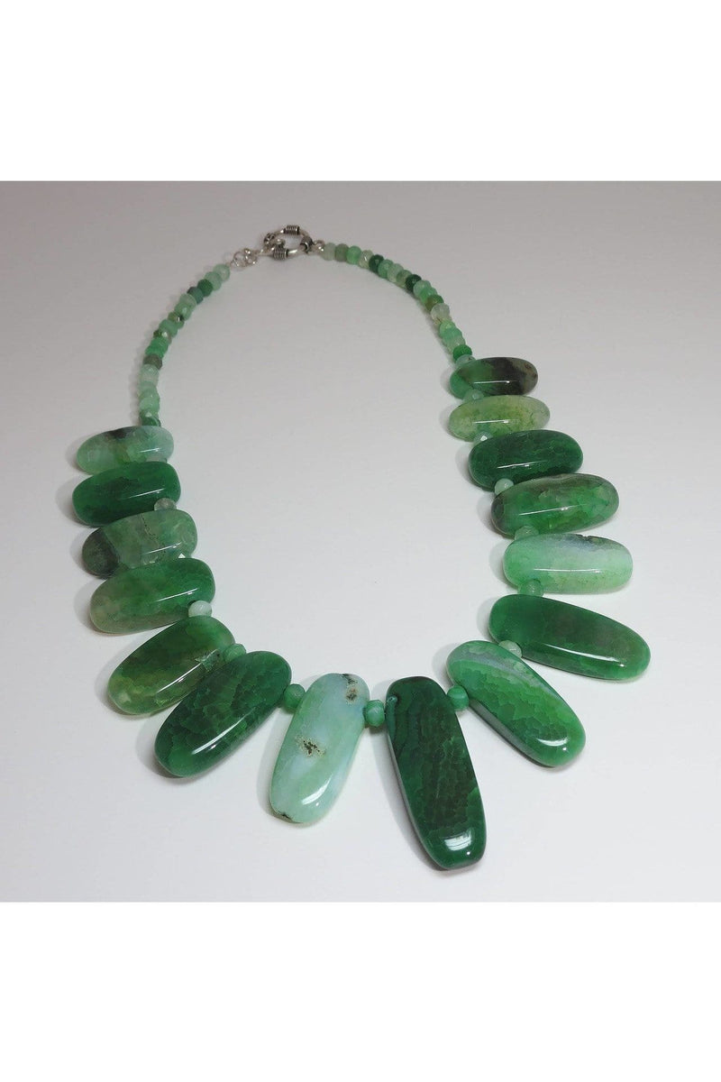 Green Agate Necklace - Himelhoch's