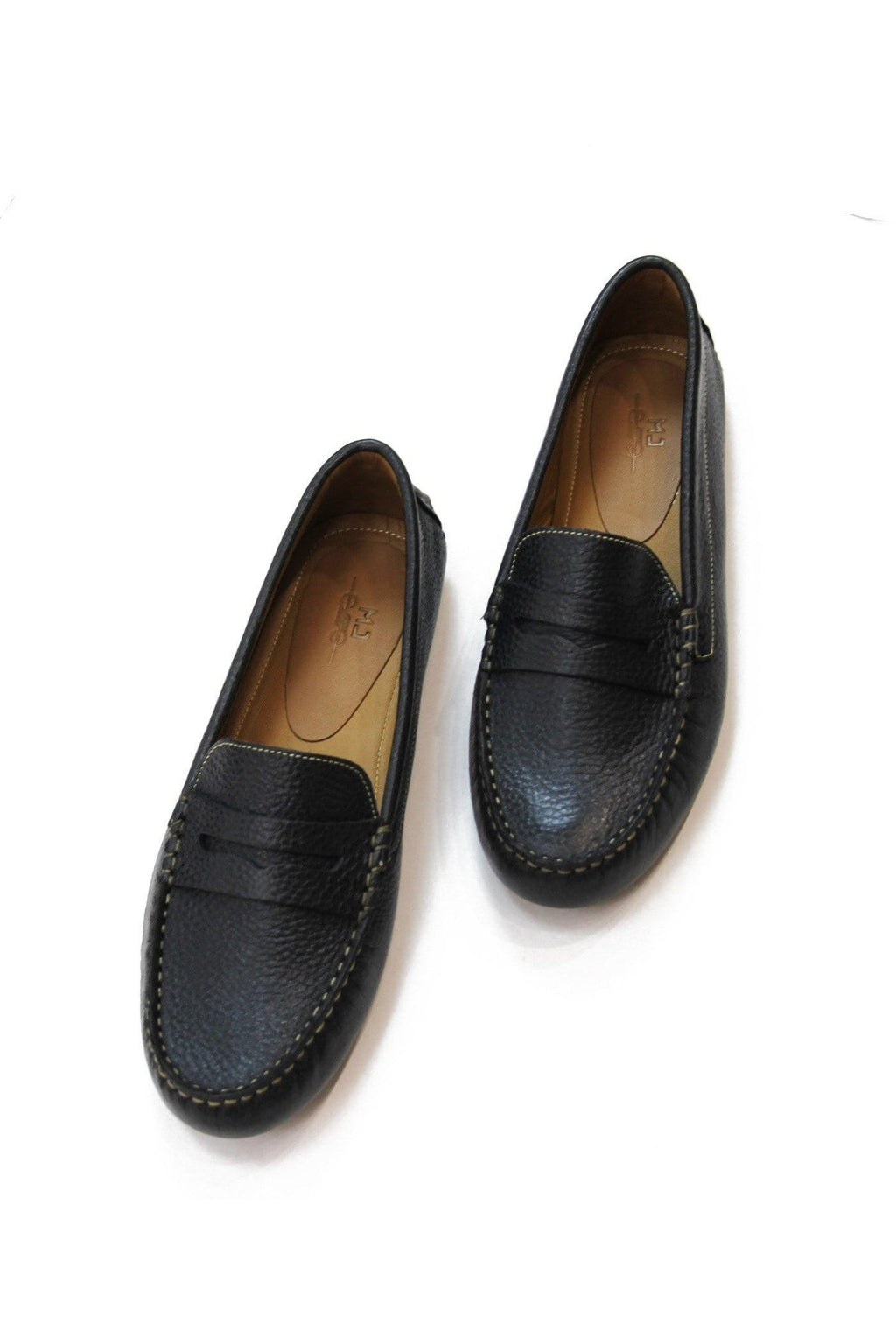 Lisa Leather Loafer in Night blue - Himelhoch's