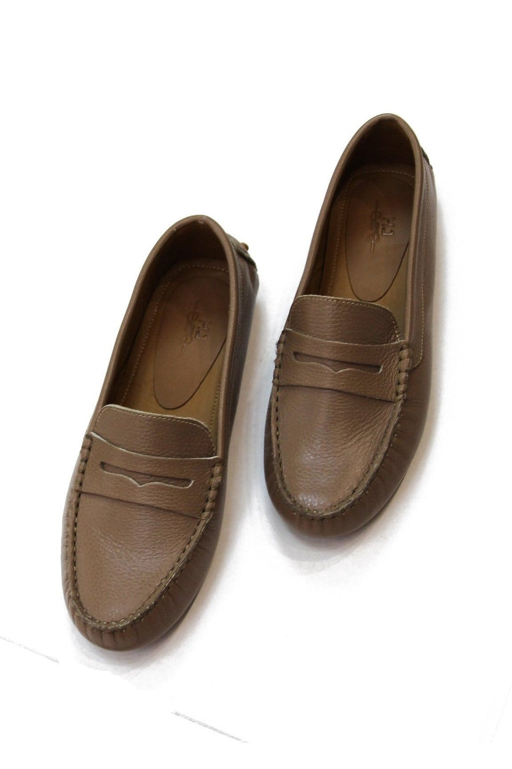 Lisa Leather Loafer in Taupe