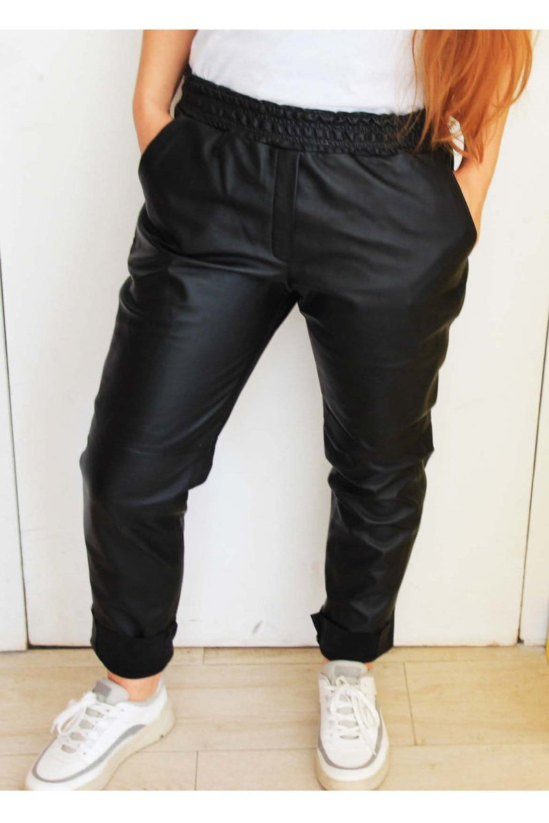 Mia Genuine Leather Joggers - Himelhoch's