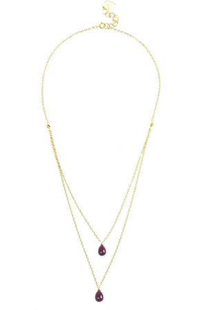 Ruby Layered Necklace - Himelhoch's