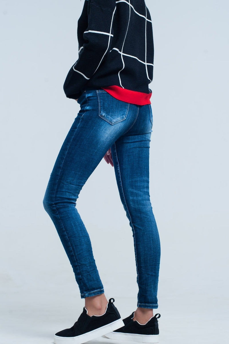 Skinny Jeans with detail Embroidered Pocket