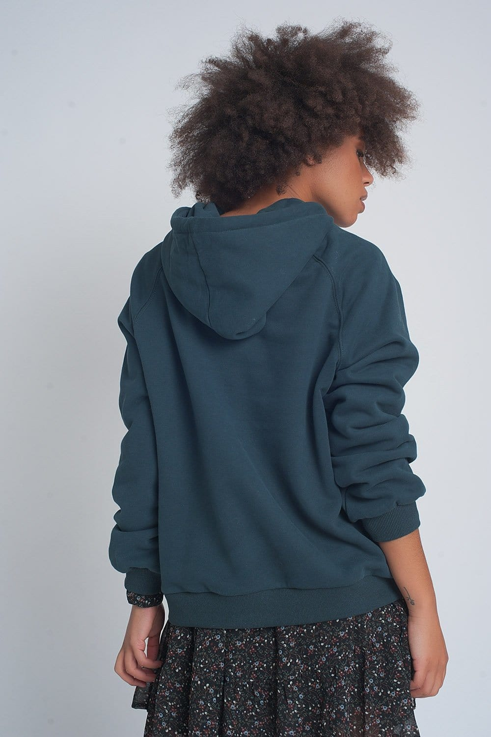 Sweatshirt with Text Print in Green - Himelhoch's