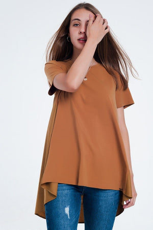 T-shirt dress in brown - Himelhoch's