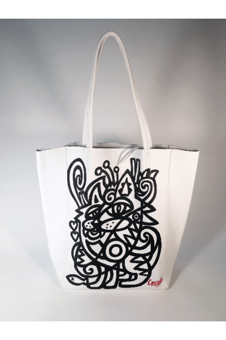 Hand Painted Cascardo Tote Bag (Black) - Himelhoch's