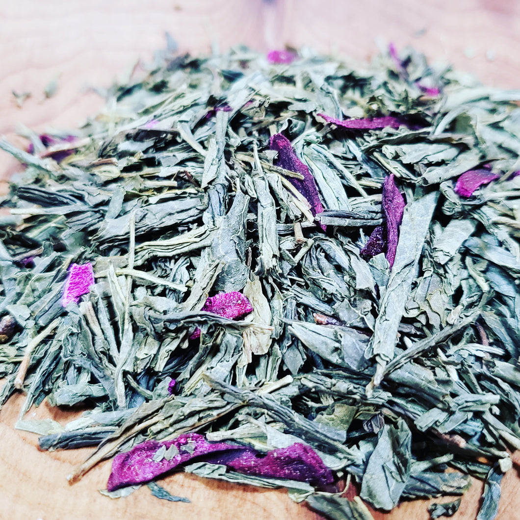 Prickly pear Sencha green tea