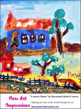 Load image into Gallery viewer, Country Home Postcard -Autism Art