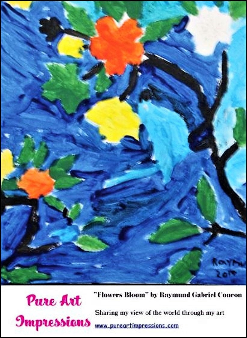 Flowers Bloom Postcard - Autism Art