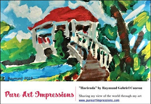 Hacienda Postcard - Autism Art