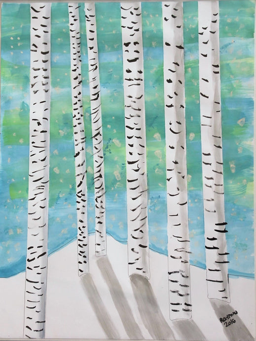 Birch Tree - Autism Art