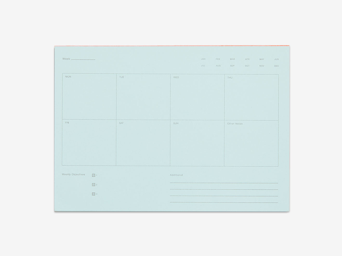 Weekly Notepad - Pale Blue