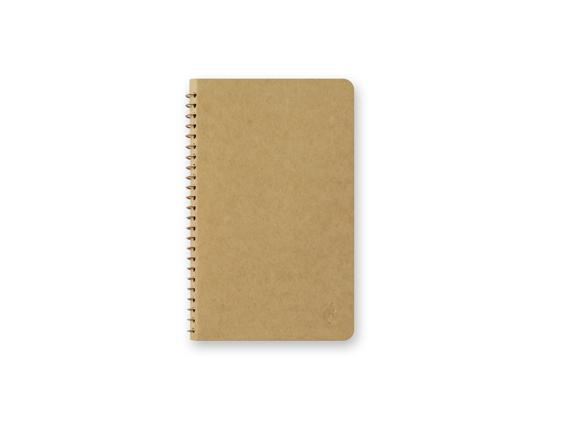 DW Kraft Paper A6 Slim Spiral Ring Notebook