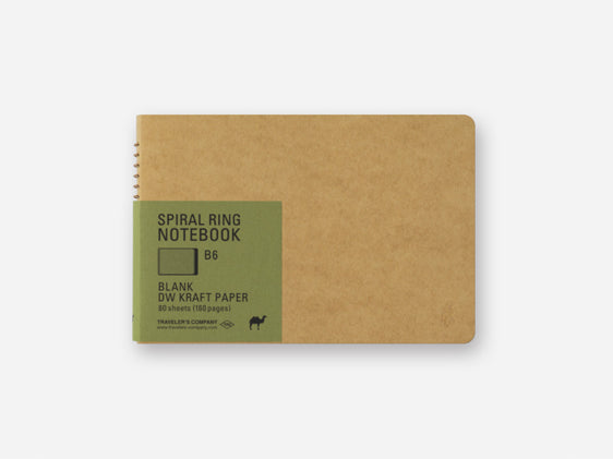 DW Kraft Paper B6 Spiral Ring Notebook