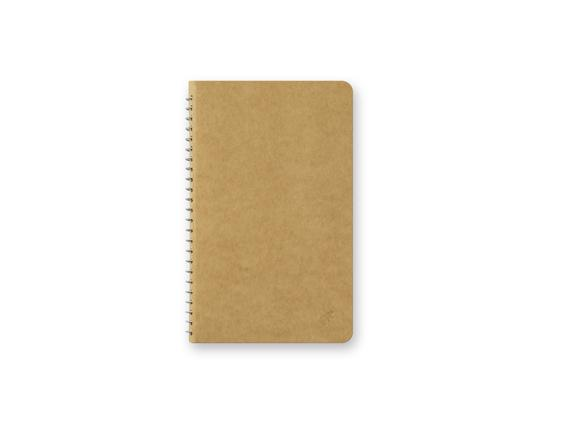 Blank MD Paper A5 Slim Spiral Ring Notebook