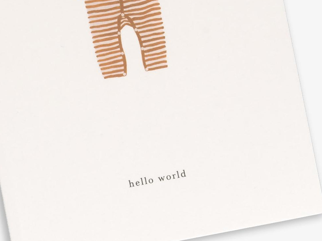 Ochre Onesie - Hello World
