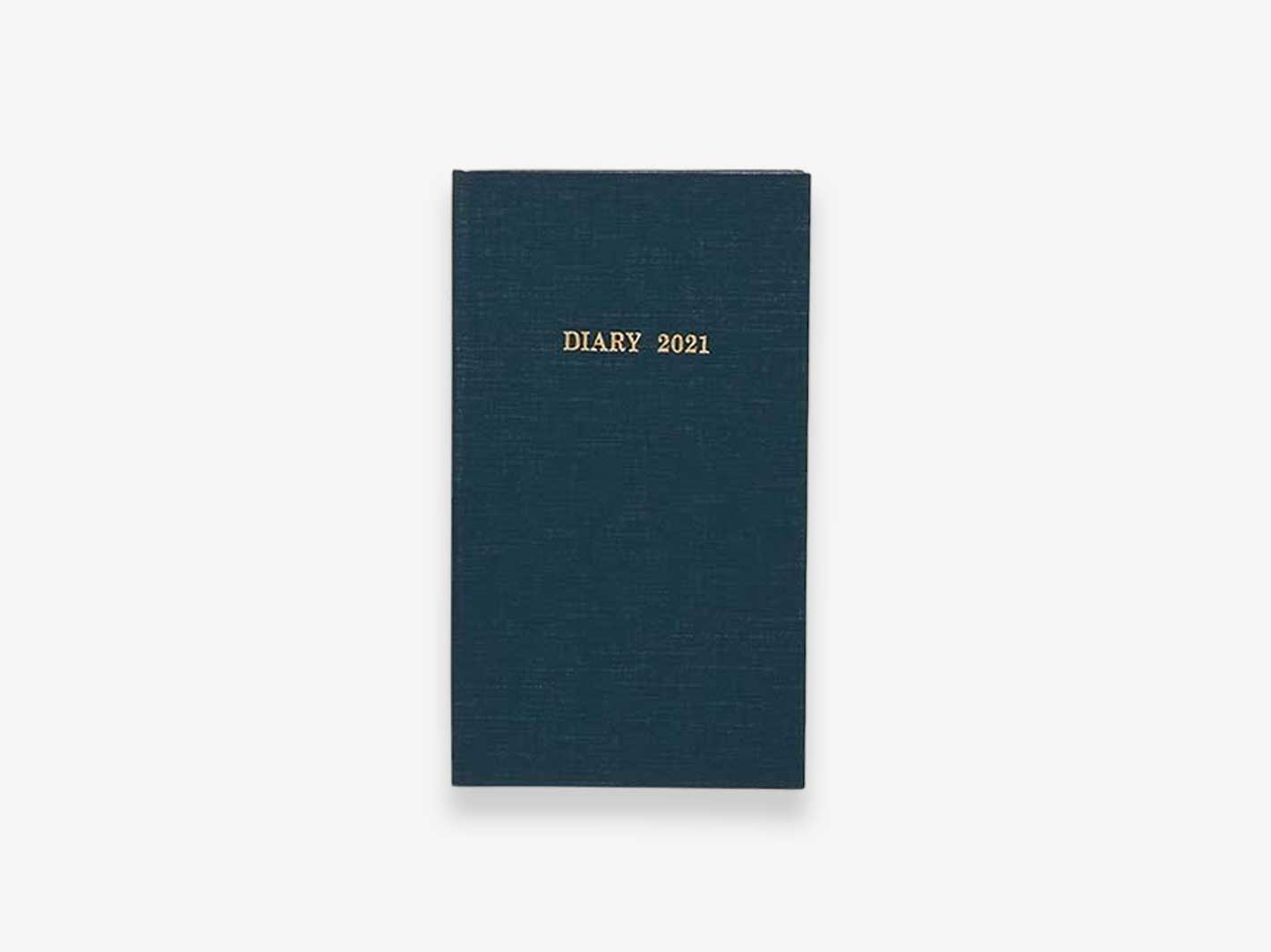2021 Monthly Field Hardcover Diary Dark Blue