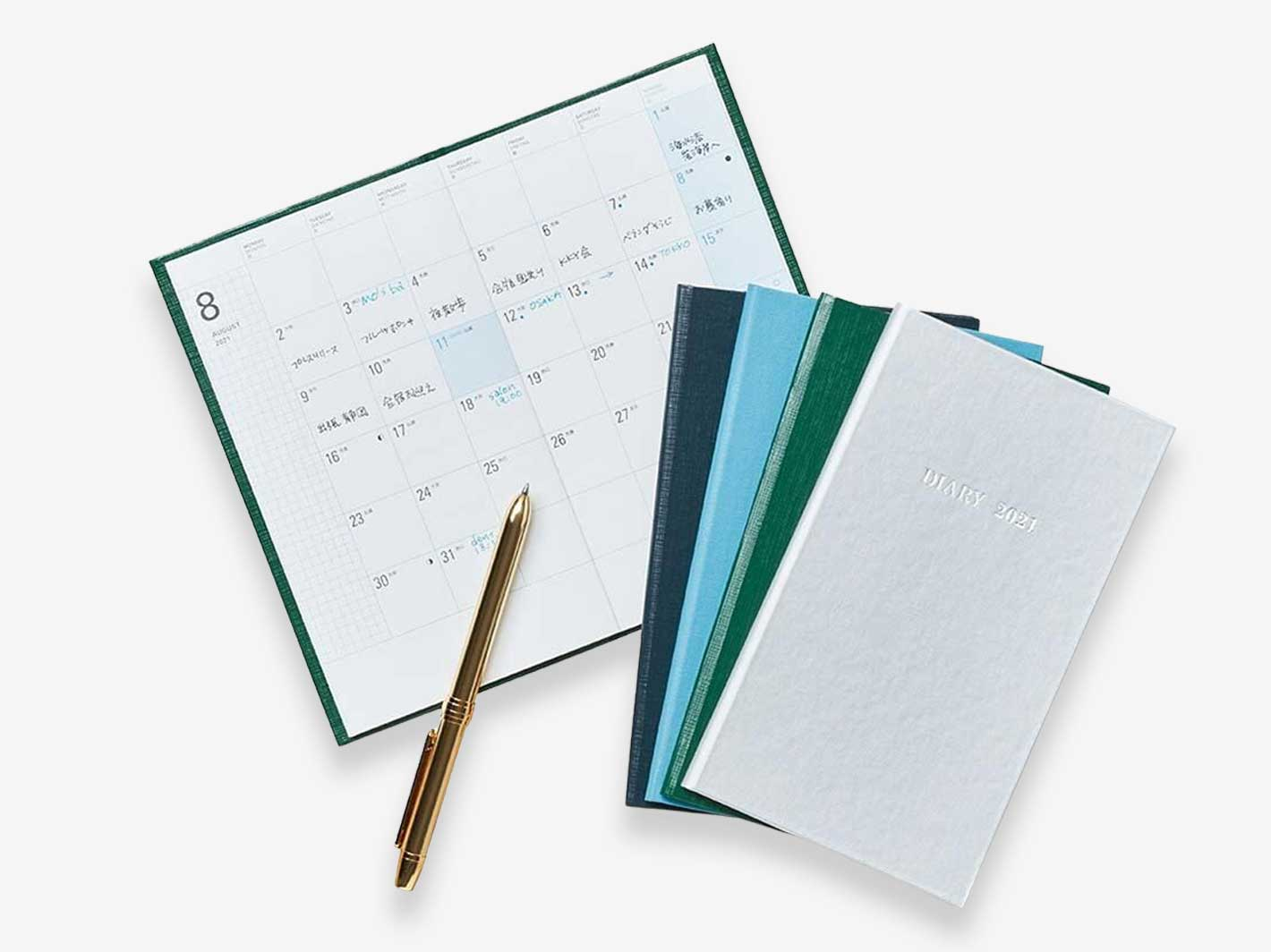 2021 Monthly Field Hardcover Diary Green