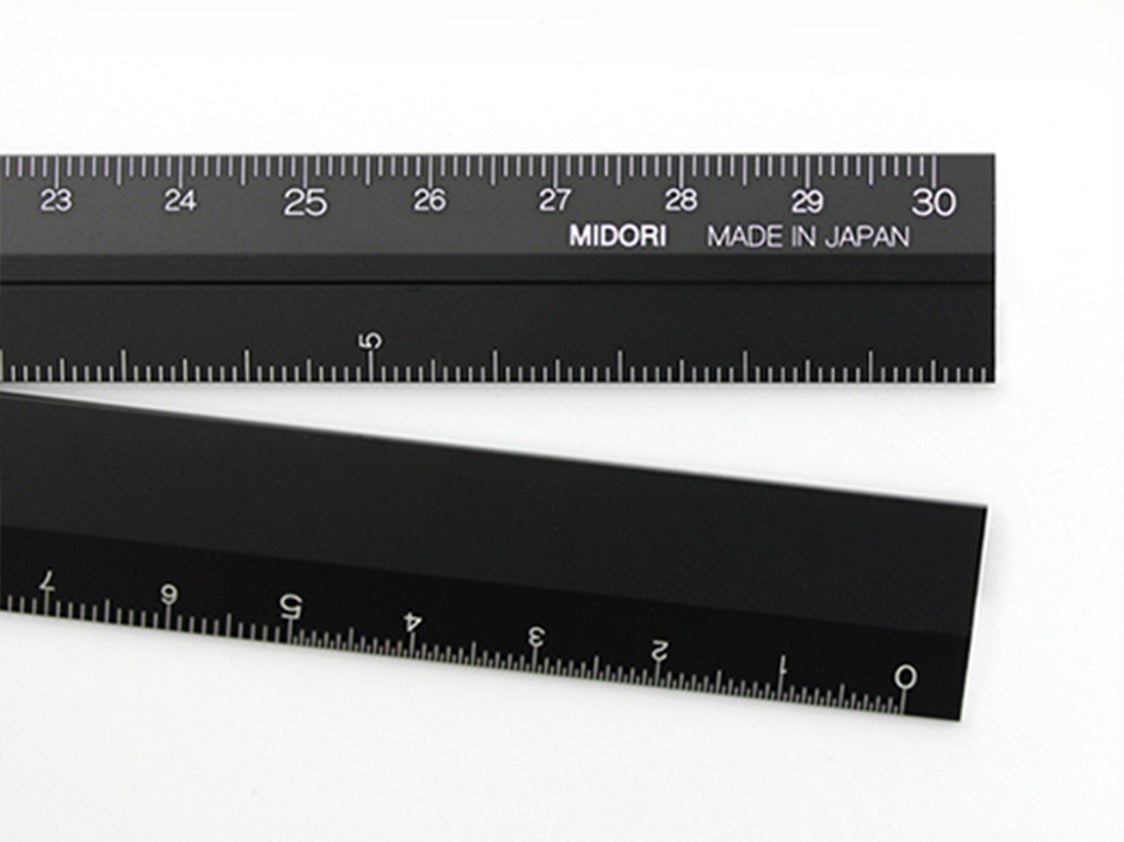 Multiple Ruler Black 30 cm